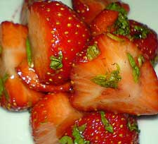 fresh marinated strawberries