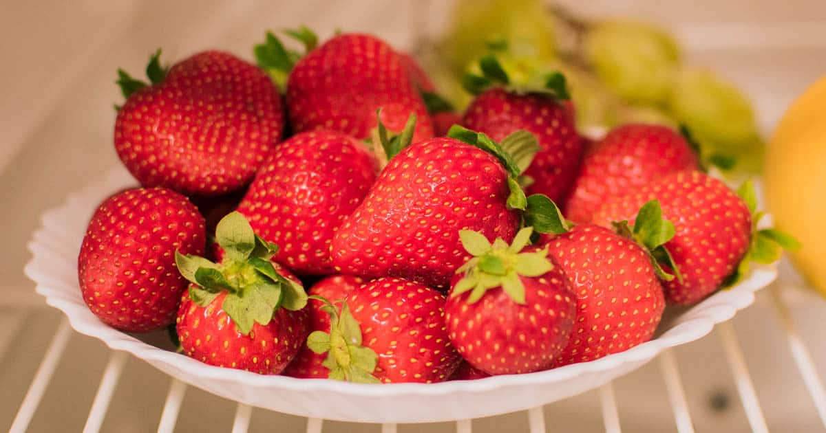 Strawberries in the Refrigerator